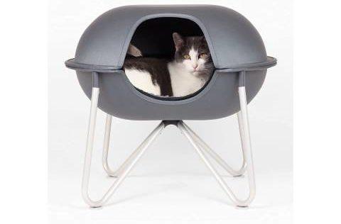 हेपर पॉड संलग्न बिल्ली बिस्तर (1)