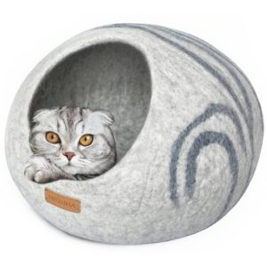 Meowfia Premium Felt Cat Cave Bed (1)