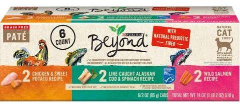 पुरीना बियॉन्ड ग्रेन-फ्री पाटे वैरायटी पैक डिब्बाबंद भोजन (1)