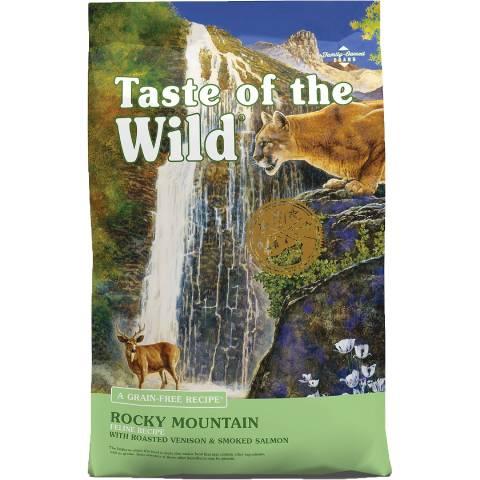 जंगली रॉकी माउंटेन अनाज मुक्त सूखी बिल्ली का खाना का स्वाद (1)