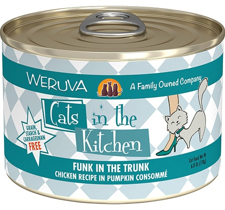 Weruva Cats in the Kitchen Funk In The Trunk Chicken in Pumpkin Consomme Grain-Free Canned Cat Food
